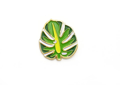 Majestic Monstera Leaf Lapel Pin