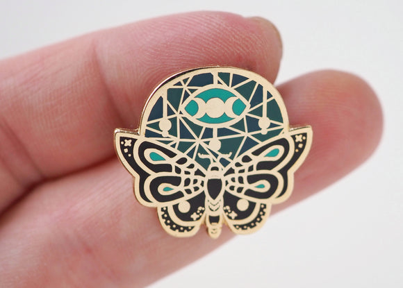 Mystic - Ethereal Moth Lapel Pin Dark