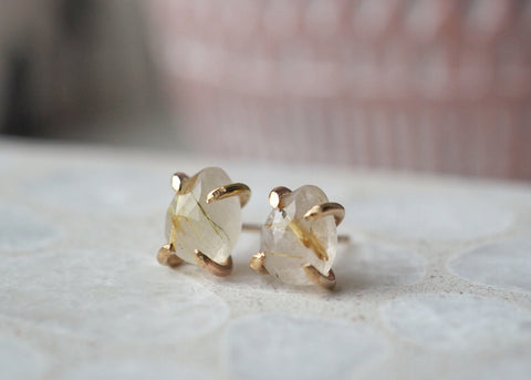 Libra Claw Earrings - Gold-filled
