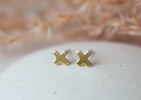 Little Cross Post Earrings
