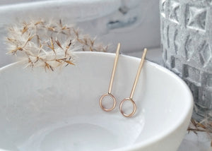 Pendulum Post Earrings