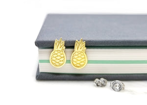 Pineapple Brass Earrings