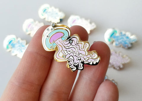 Jellyfish - Lapel Pin - Multiple Colors