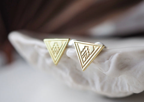 Plymouth Triangle Post Earrings