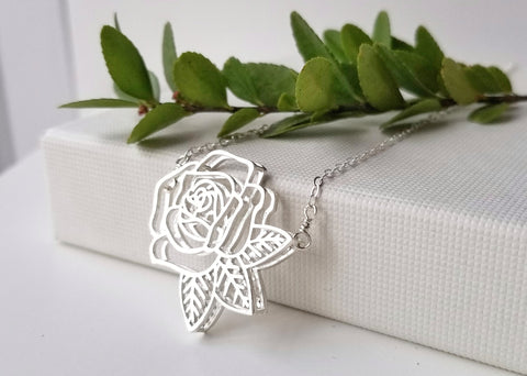 Rose Necklace 18""