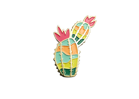 Prickly Cactus Lapel Pin