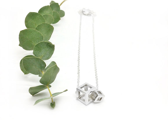 Two Cube Necklace