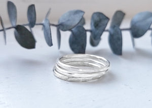 Andromeda Hammered Stacking Ring