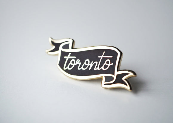Toronto Banner - Lapel Pin - Black