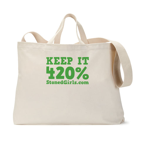 420 Percent Tote Bag