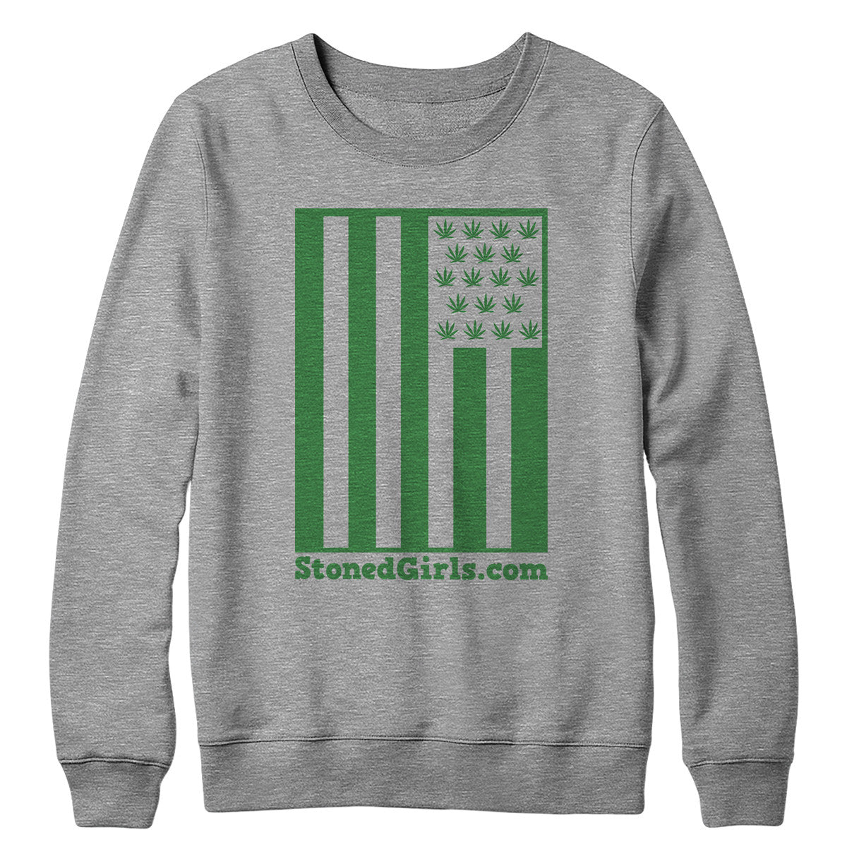 Cannabis Flag Crewneck Sweatshirt