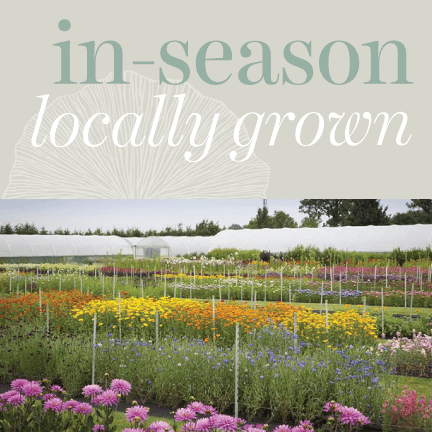Locally Grown - Seasonally Available Flowers in Ontario