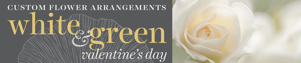 Sweetpea's Toronto Florist - Contemporary White & Green Valentine's Day Flower Arrangements