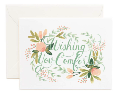 "Sweetpea's - Sympathy Cards ""Wishing You Comfort"""