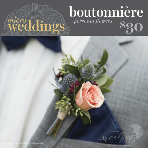 Micro-Weddings - Boutonnières