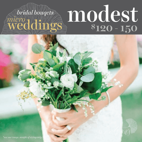 Micro-Weddings - Bridal Bouquet (Modest)