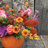 Seasonal, Fall - Pumpkin Floral Arrangement