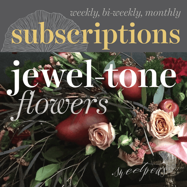 Floral Subscriptions - Jewel Tone Flowers