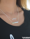 Silver FHL Bar Necklace
