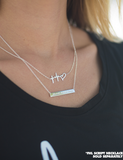 Silver FHL Script Necklace