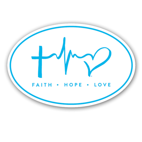 FHL Oval - Blue Window Sticker