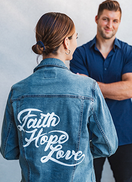 Faith, Hope & Love Airbrush Denim Jacket
