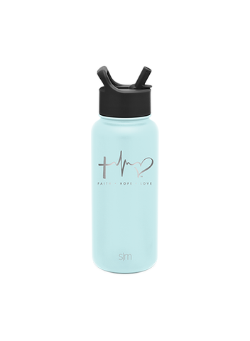 TTF Simple Modern Water Bottle 32oz - Seaside