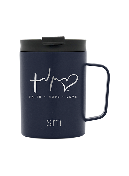 TTF Simple Modern 12oz Coffee Mug - Deep Ocean