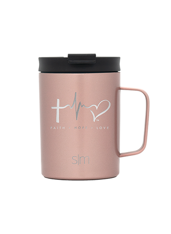 TTF Simple Modern Coffee Mug 12oz - Rose Gold