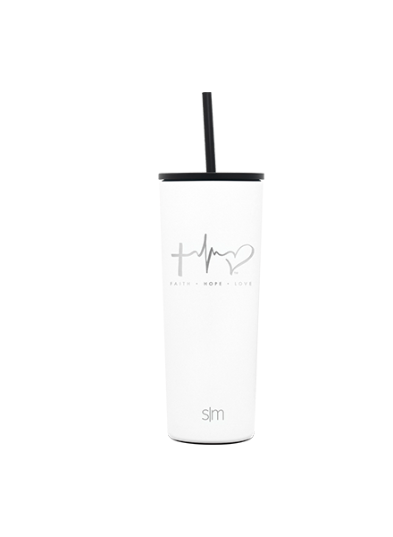 TTF Simple Modern Classic Tumbler 24oz - Winter White