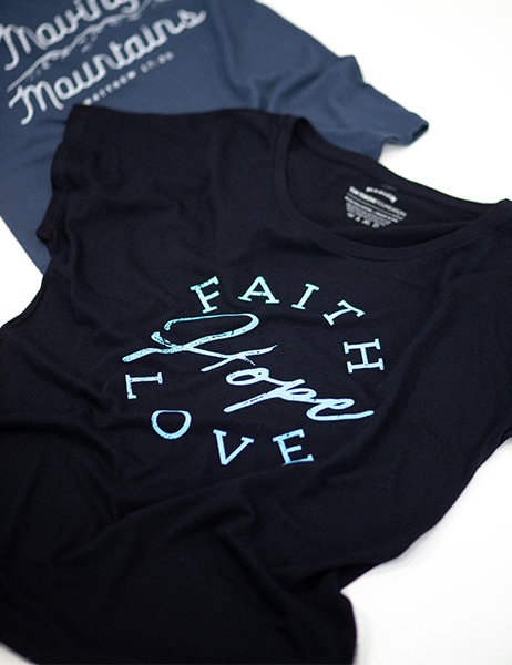 Faith, Hope & Love Script Dolman - Black