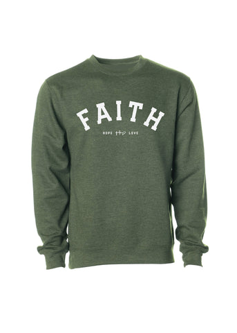 Faith Crew Sweatshirt - Army