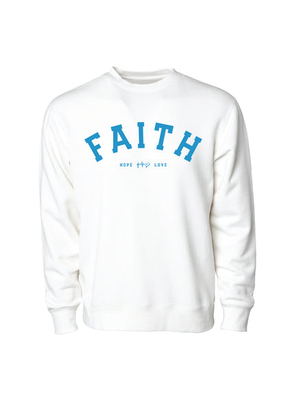 Faith Crew Sweatshirt - White