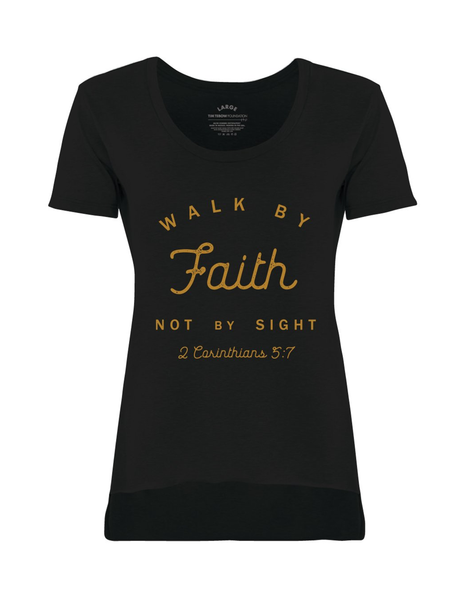 Women's Walk By Faith T-Shirt - Black