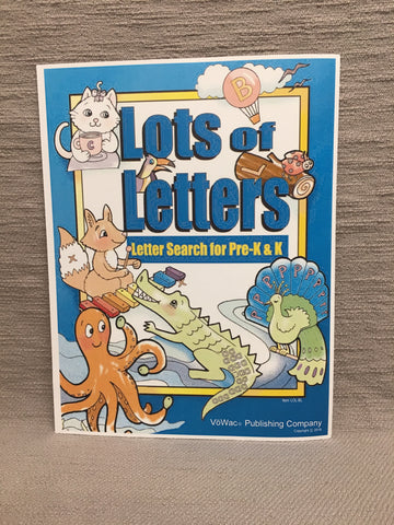 Lots of Letters Book  (PK-LOL-BL)