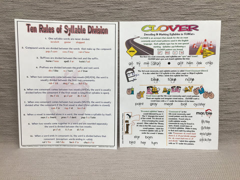 Syllabication & CLOVER Posters   (PCS-SET)