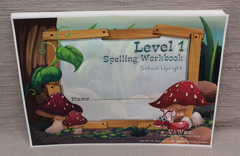 Spelling Workbook - Level 1 (SW-1-Z) or (SW-1-D)