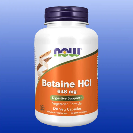 Betaine HCl 648 mg 120 Capsules