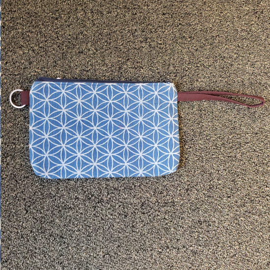 Indigo Print Pouch - Flower of Life