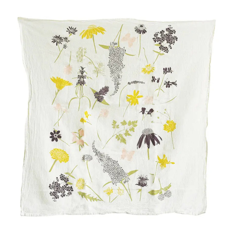 Cotton Tea Towel - Butterfly Garden - $16