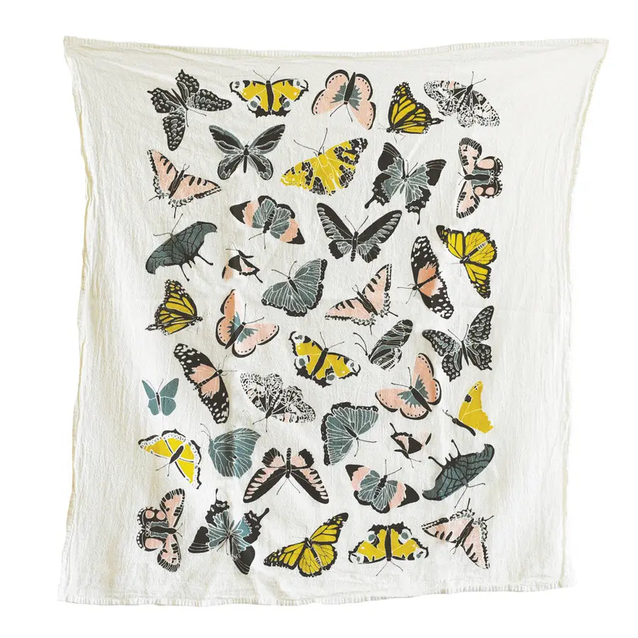 Cotton Tea Towel - Butterfly House - $16