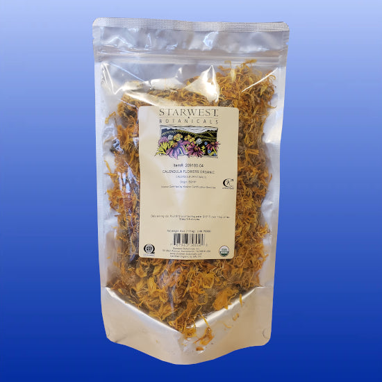 Calendula Flowers Organic Dried 4 Oz