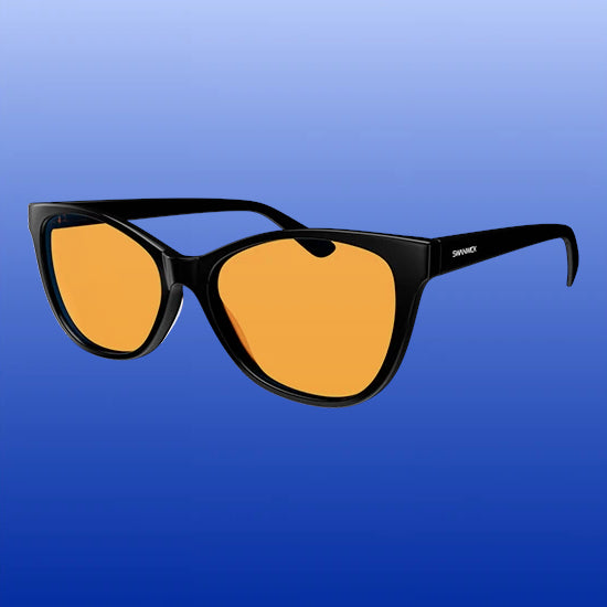 Blue Light Blocking Glasses - Catseye - Black