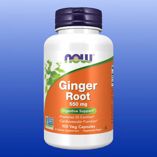 Ginger Root 550mg 100 Vegetable Capsules