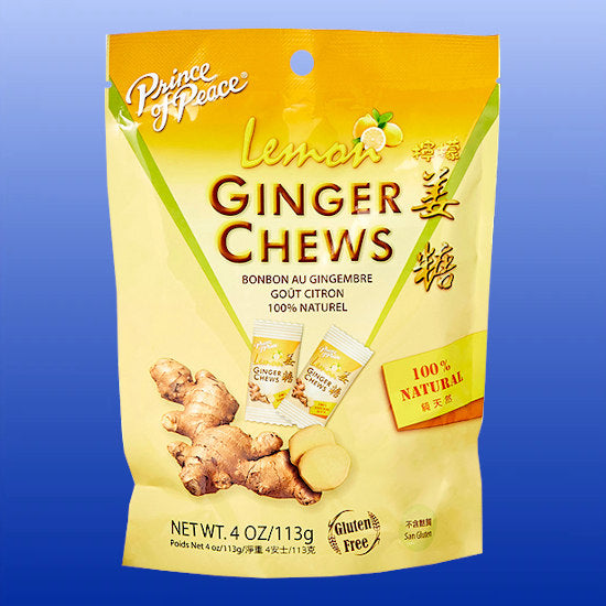 Ginger Chews Lemon 4 Oz