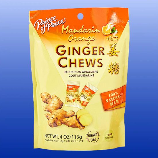 Ginger Chews Mandarin Orange 4 Oz