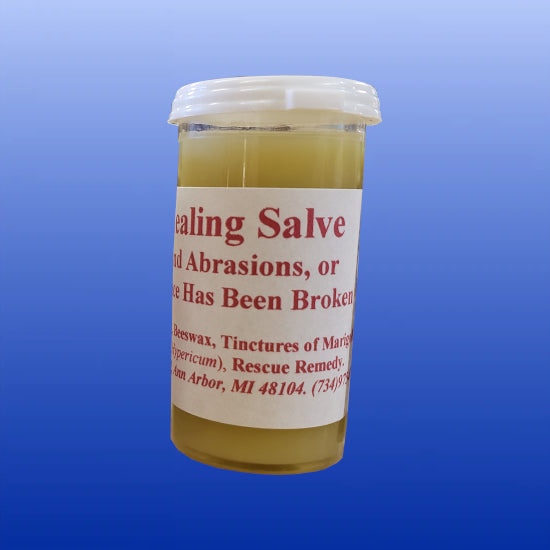 Bronwen's Healing Salve 1oz Snap top Vial or 2 oz Glass Jar