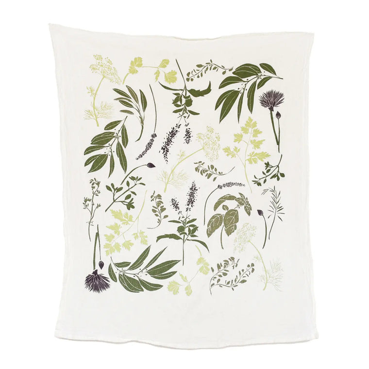 Cotton Tea Towel - Herb Garden - $16