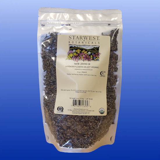Lavender Flowers Organic Dried 4 Ounces