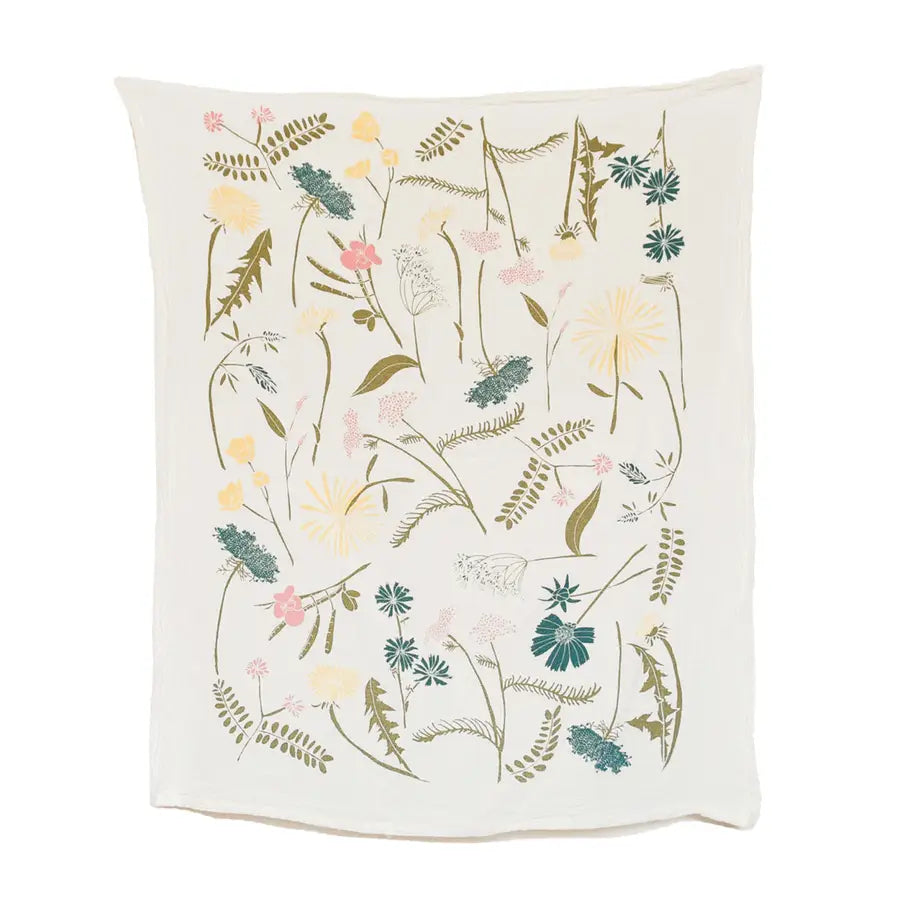 Cotton Tea Towel - Meadow - $16